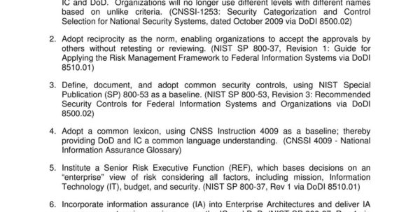 Cnssi 1253 Spreadsheet Intended For Risk Management Framework Rmf: The Future Of Dod Cyber Security Is
