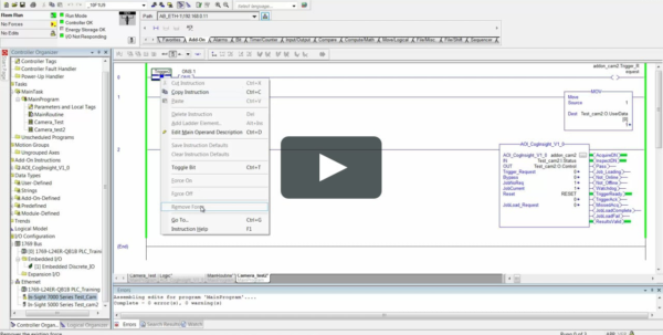Cognex Insight Spreadsheet Tutorial Inside Cognex Insight Training 2.4 Connecting Spreadsheet Camera To Plc And
