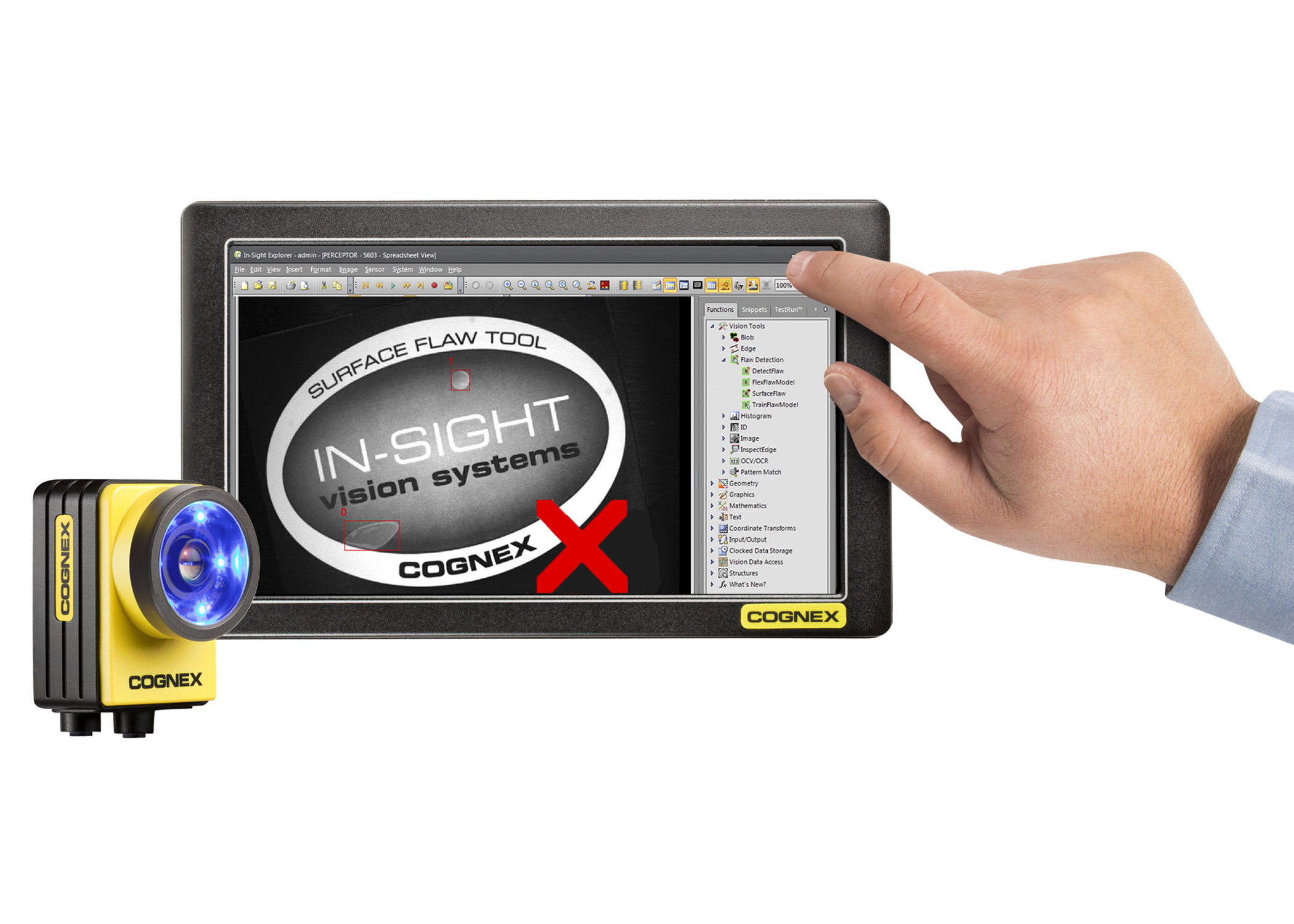 Cognex Spreadsheet Intended For New Insight Software Release Features Advanced Defect Detection
