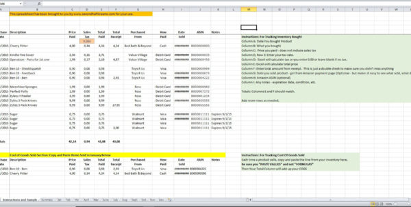 Cogs Spreadsheet Inside Inventory And Cogs Excel Spreadsheet  Eloquens Cogs Spreadsheet Spreadsheet Download