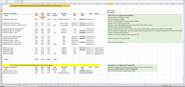 Cogs Spreadsheet Inside Inventory And Cogs Excel Spreadsheet  Eloquens