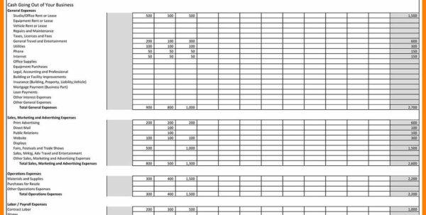 Cogs Spreadsheet Regarding 7  Business Monthly Expenses Spreadsheet  Credit Spreadsheet