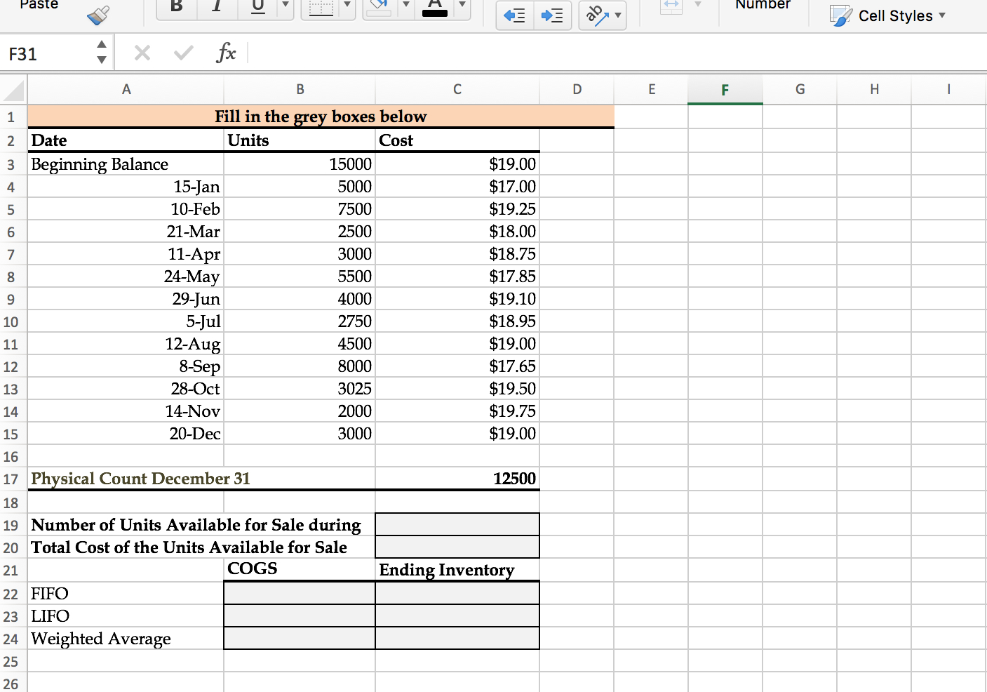 Cogs Spreadsheet With Solved: The Following Spreadsheet Is Posted. I Posted An