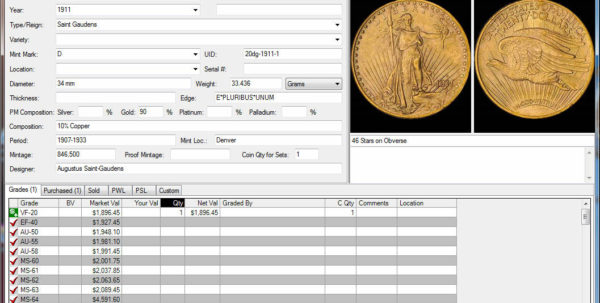 Coin Collecting Inventory Spreadsheet Intended For Coin Collecting Software: Ezcoin Usa 2019 With Values Images Great