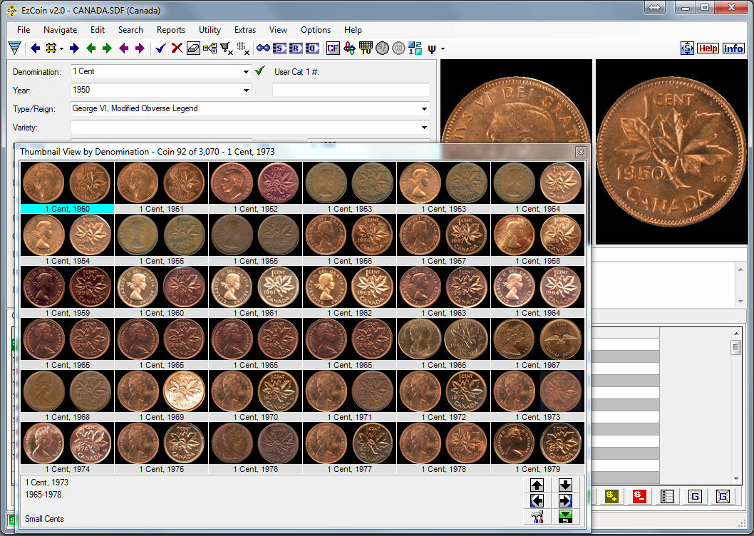 Coin Collecting Inventory Spreadsheet Regarding Coin Collecting Software  Ezcoin From Softpro