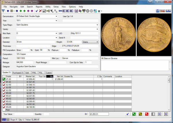Coin Collection Spreadsheet For Coin Collecting Software: Ezcoin Usa 2019 With Values Images Great