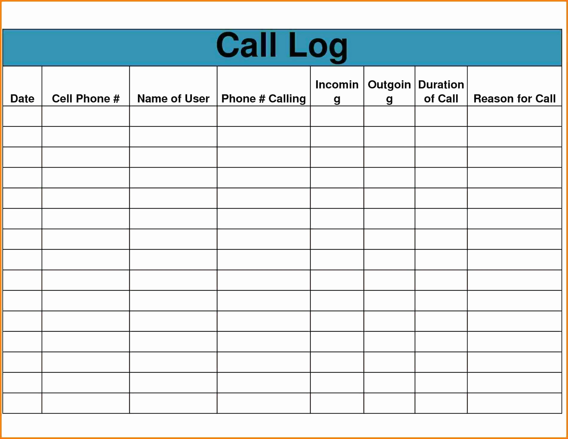 Cold Calling Excel Spreadsheet Within Call Sheet Template Excel Fresh Contact Sheet Template Word Order