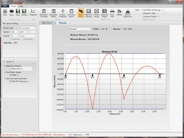 Cold Formed Steel Design Spreadsheet Intended For Cfs Designer™ Software  Simpson Strongtie®