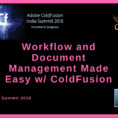 Coldfusion Spreadsheet Functions Pertaining To Cf India Summit: Part One  Workflow And Document Management Made