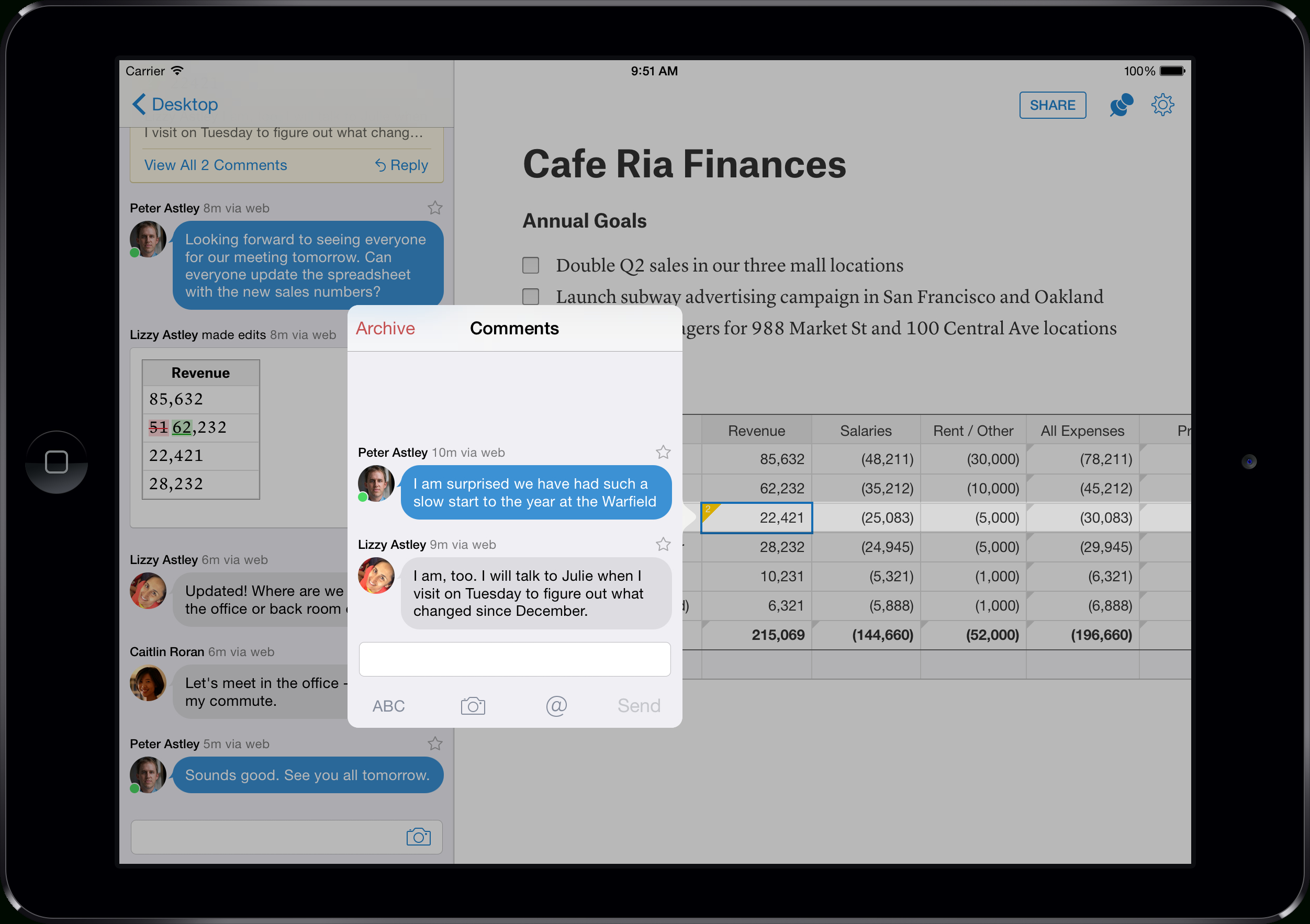 Collaborative Spreadsheet With Quips Adds Spreadsheets To Collaboration Productivity Suite