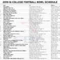 College Football Pick Em Spreadsheet Within Bowl Schedule — Latest News, Images And Photos — Crypticimages