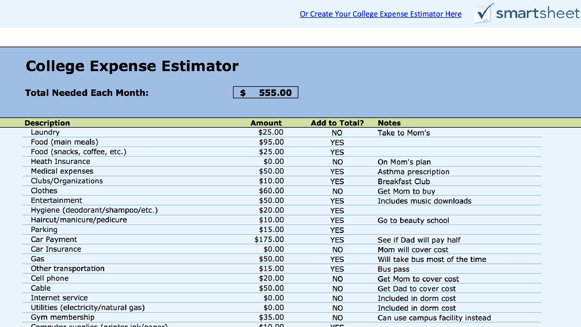 College Spreadsheet Regarding College Comparison Spreadsheet Template Worksheet Excel Sample
