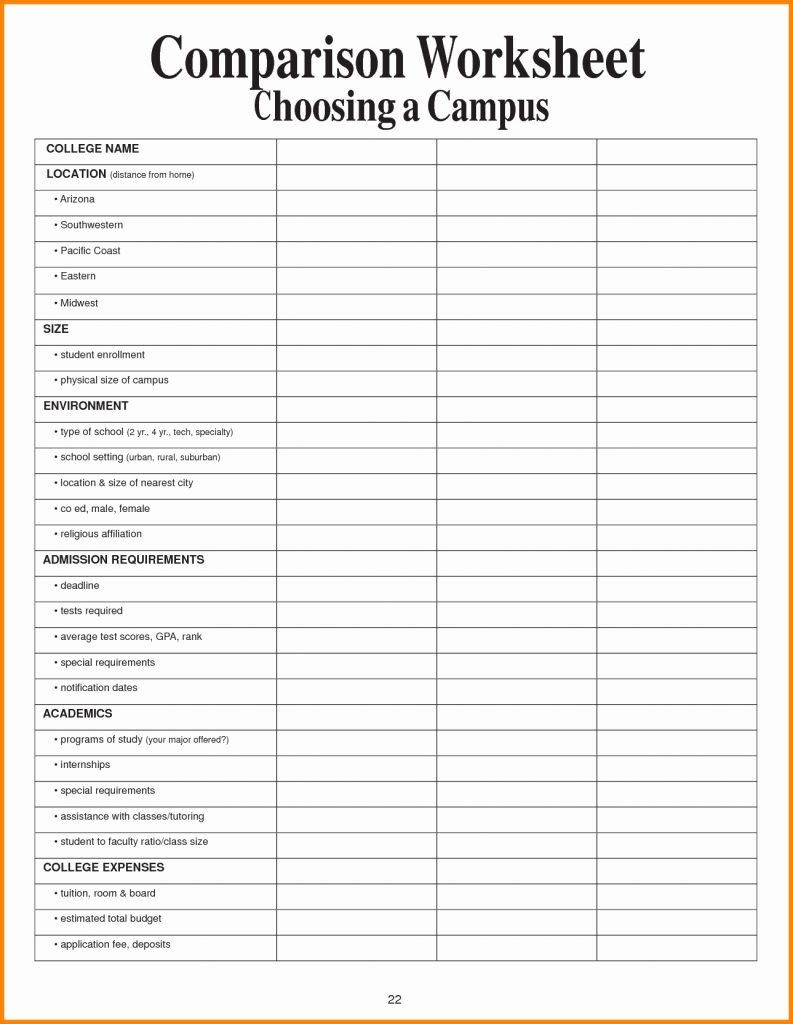 College Spreadsheet Throughout College Comparison Spreadsheet Parison Template Best Worksheet Excel