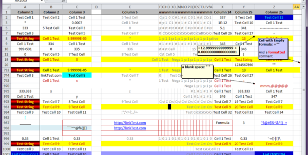 Colourful Excel Spreadsheet For Excel Vba Performance  1 Million Rows  Delete Rows Containing A
