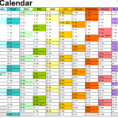 Colourful Excel Spreadsheet Within Calendarpedia  Your Source For Calendars
