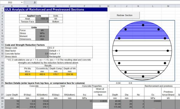 Column Design Eurocode 2 Spreadsheet For Concrete Uls Spreadsheet Update  Newton Excel Bach, Not Just An
