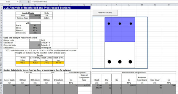 Column Design Eurocode 2 Spreadsheet Inside Concrete Uls Spreadsheet Update2  Newton Excel Bach, Not Just An
