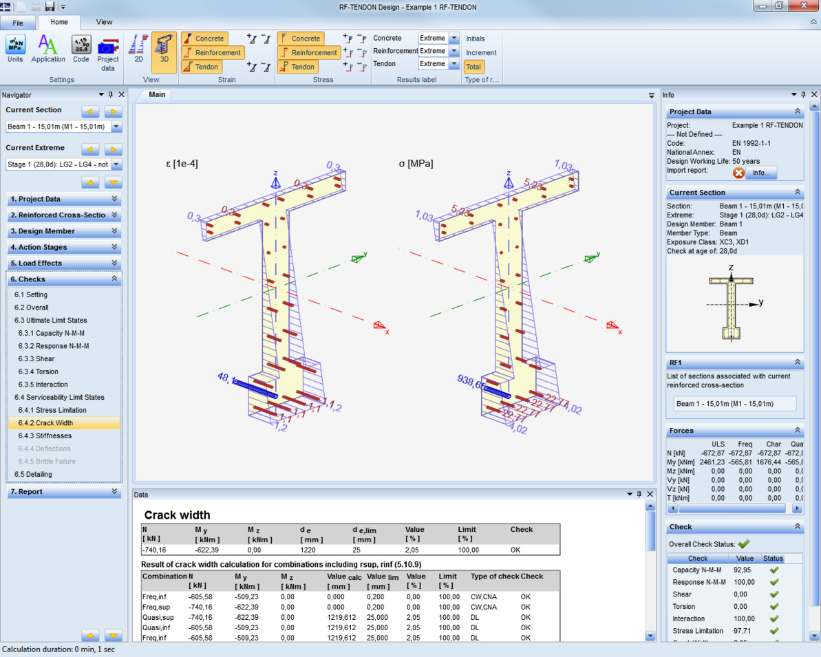 Column Design Eurocode 2 Spreadsheet Inside Eurocodes Ec  Dlubal Software