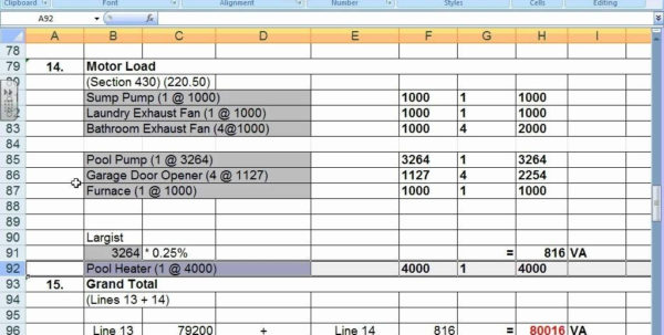 Commercial Electrical Load Calculation Spreadsheet Pertaining To Commercial Electrical Load Calculation Spreadsheet  Csserwis Commercial Electrical Load Calculation Spreadsheet Spreadsheet Download, 2