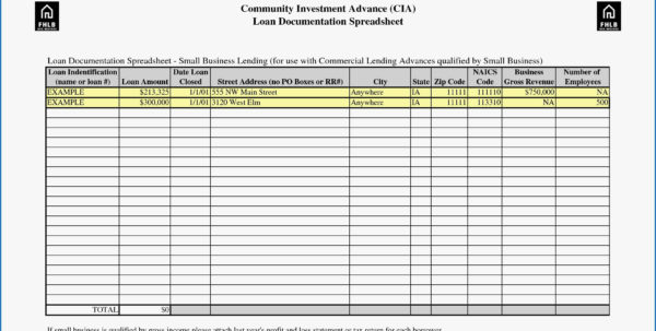 Commercial Loan Comparison Spreadsheet For Spreadsheet For Taxes Expense Sheet Receipt Mileage Business