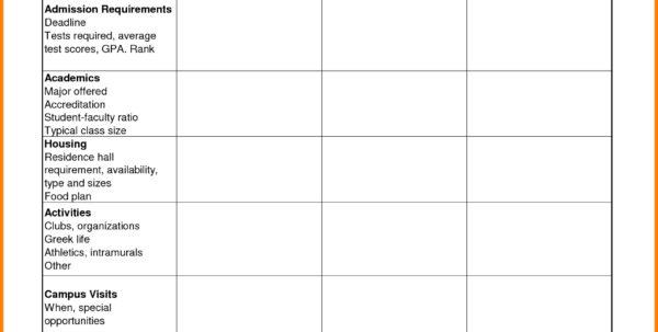 Commercial Loan Comparison Spreadsheet Regarding College Comparison Worksheet The Best Worksheets Image Collection