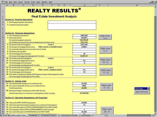 Commercial Real Estate Analysis Spreadsheet Inside Real Estate Analysis Spreadsheet And Commercial Real Estate Lease