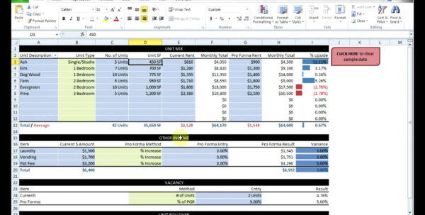 Commercial Real Estate Analysis Spreadsheet With Regard To Real Estate Investment Spreadsheet Templates Free  Homebiz4U2Profit