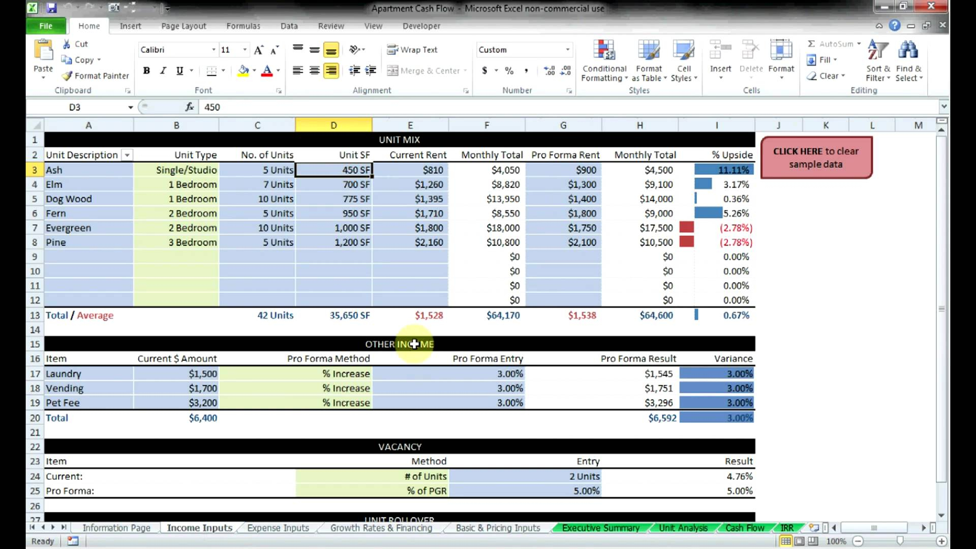 Commercial Real Estate Spreadsheet Within Real Estate Investment Spreadsheet Templates Free  Homebiz4U2Profit