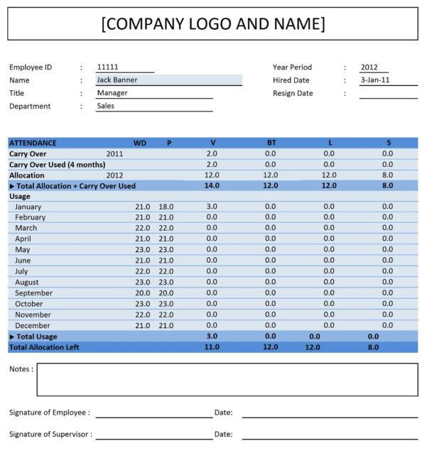 Comp Time Tracking Spreadsheet Regarding Employee Attendance Spreadsheet 2018 Google Spreadsheet Templates