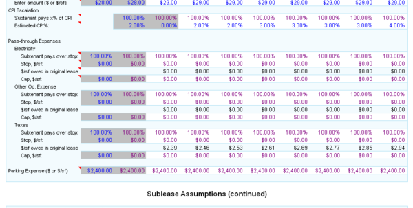Comparative Lease Analysis Excel Spreadsheet For Comparative Lease Analysis  Commercial Real Estate Lease Analysis