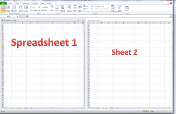 Compare 2 Excel Spreadsheets With Regard To How Do I View Two Sheets Of An Excel Workbook At The Same Time
