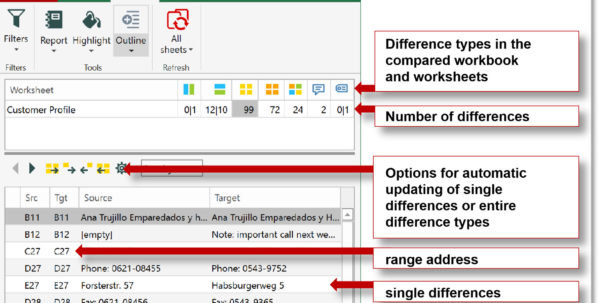 Compare 2 Spreadsheets Pertaining To Best Tool To Compare Excel Files And Databases.  Synkronizer Excel