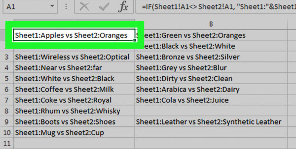 Compare And Contrast Databases And Spreadsheets In 3 Ways To Compare Data In Excel  Wikihow