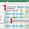 Compare Excel Spreadsheets Throughout Compare Two Excel Files, Compare Two Excel Sheets For Differences