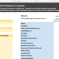 Compare Job Offers Spreadsheet Within Track Job Postingscompany On Indeed  Spreadsheet Template In
