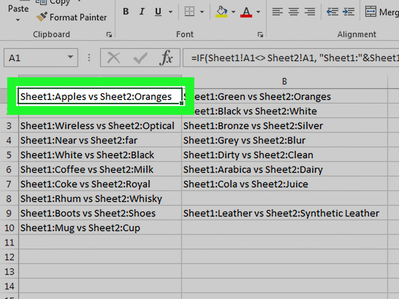 Compare Two Excel Spreadsheets In 3 Ways To Compare Data In Excel  Wikihow