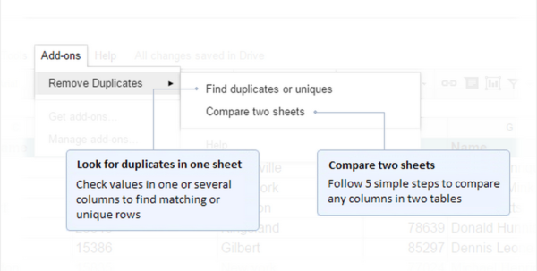 Compare Two Spreadsheets For Duplicates Pertaining To 12 Free Addons That Take Docs And Sheets To The Next Level Compare Two Spreadsheets For Duplicates Payment Spreadsheet