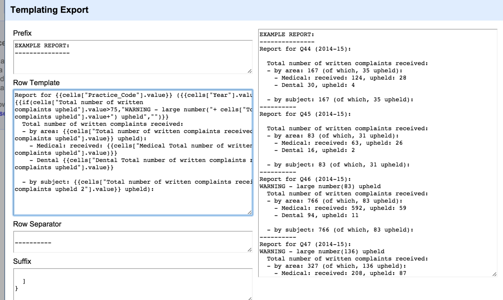 Complaints Spreadsheet Template In Converting Spreadsheet Rows To Text Based Summary Reports Using