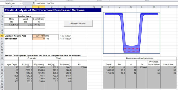 Composite Beam Design Spreadsheet In Daily Download 2: Sls Design Of Reinforced Concrete Sections