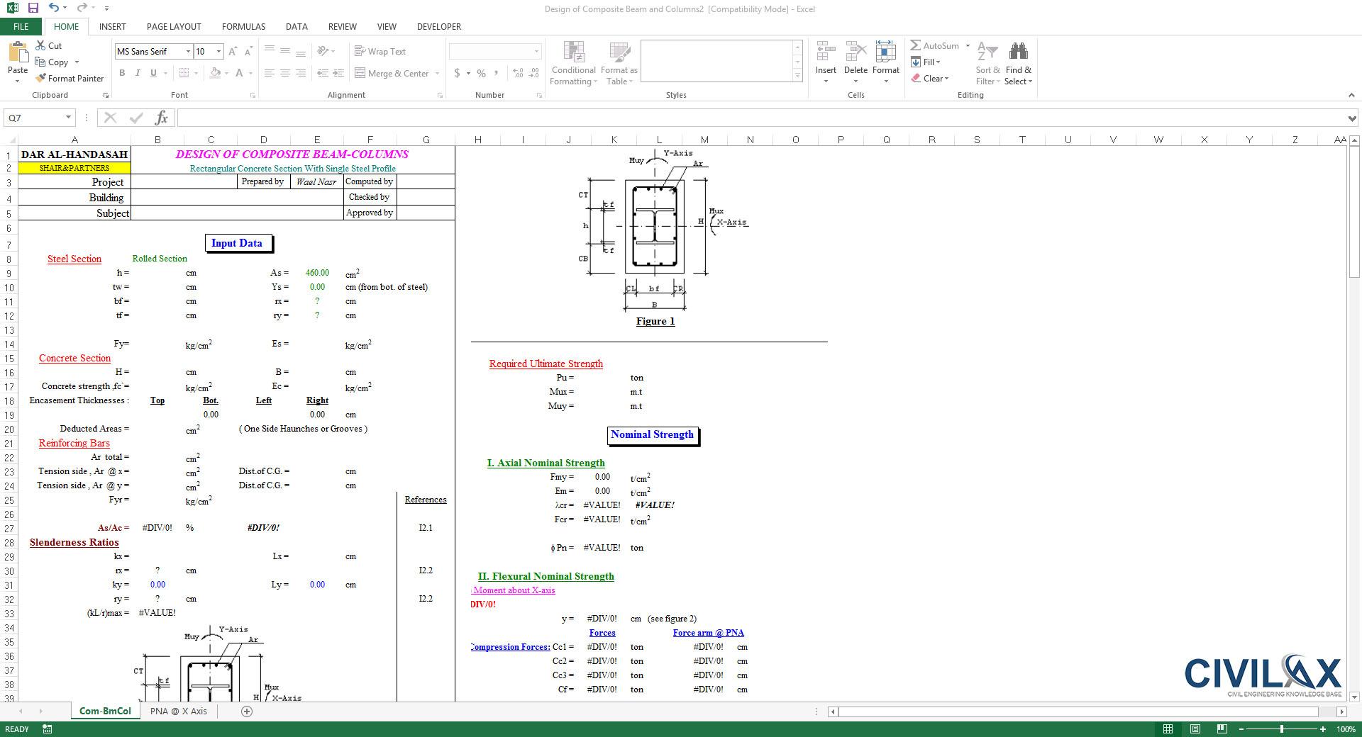 Composite Beam Design Spreadsheet Inside Design Of Composite Beam And Columns  Civil Engineering Community