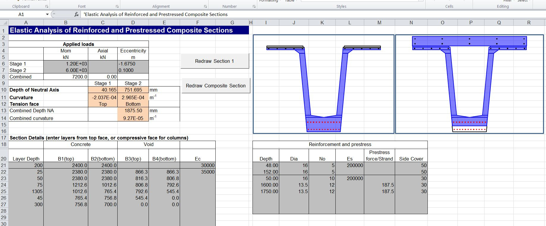 Composite Beam Design Spreadsheet Pertaining To Composite Beam Spreadsheet 3  Newton Excel Bach, Not Just An
