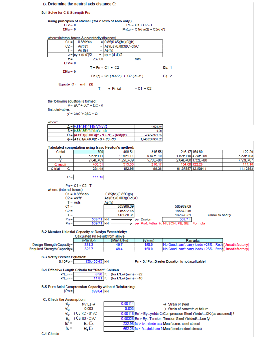 Composite Beam Design Spreadsheet Within Reinforced Concrete Design  Engineer's Outlook
