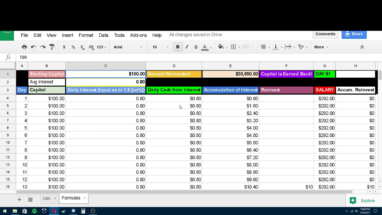 Compound Interest Spreadsheet Bitconnect Throughout Compound Interest Spreadsheet Bitconnect Into In One Year  Pywrapper