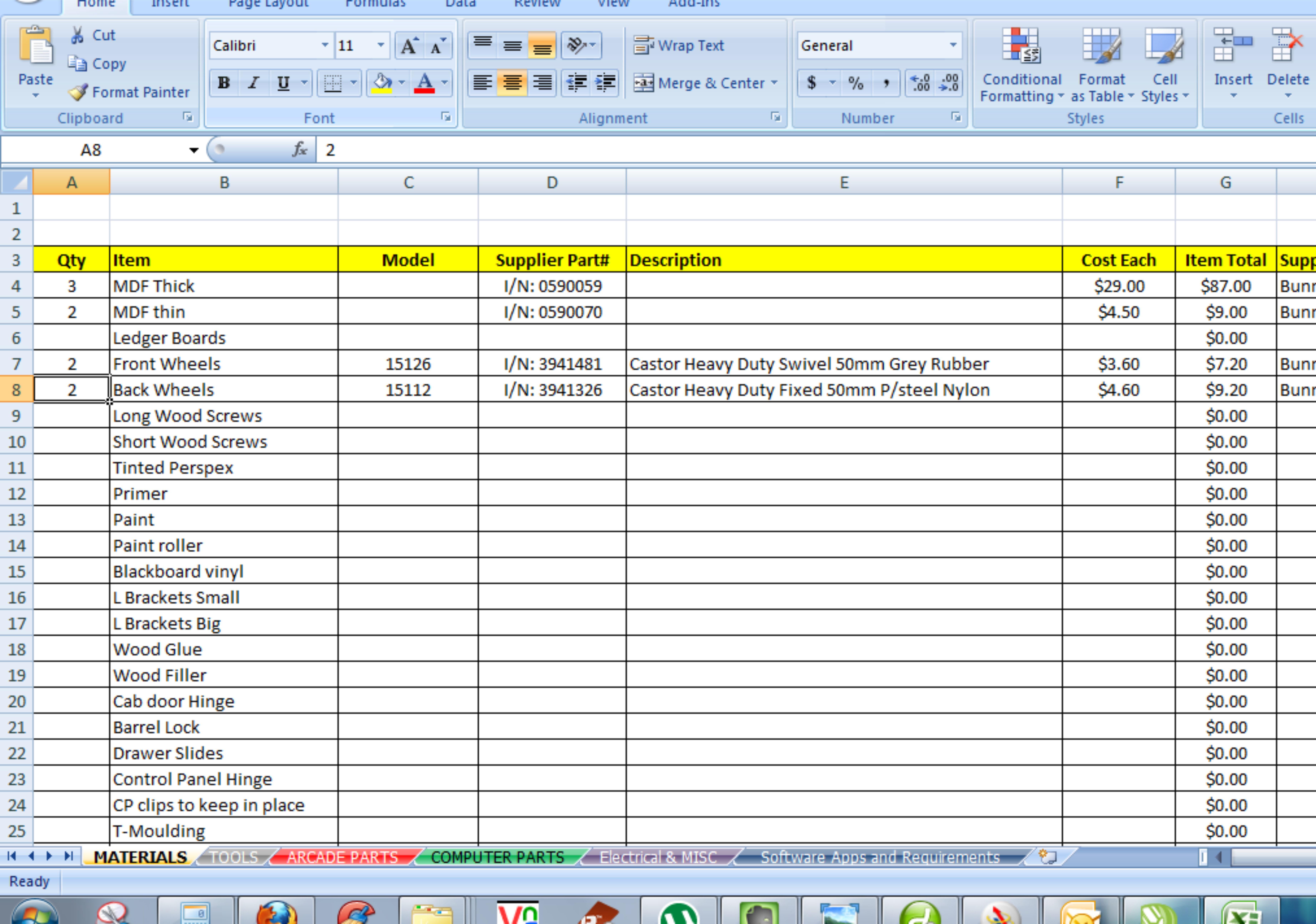 Computer Build Spreadsheet Within Retro5 Arcade  Custom Arcade Cabinet Build — Www.retro5Online