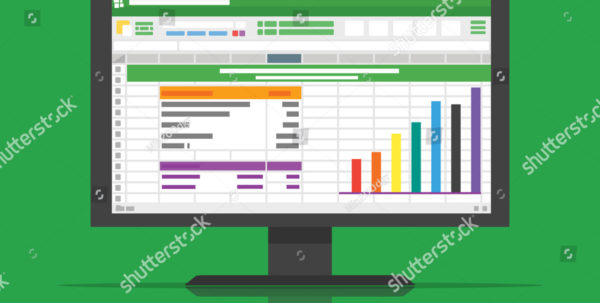 Computer Spreadsheet Software Intended For Spreadsheet Software Computer Screen Financial Accounting Stock