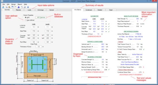 Concrete Column Design Spreadsheet Free Download For Steel Beam, Column, Plate, Anchor, Connection Software  Asdip Steel