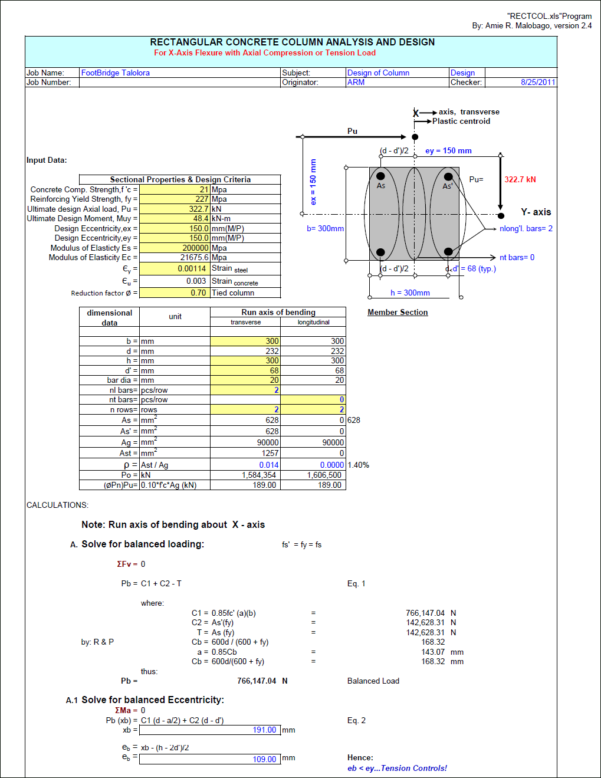 Concrete Column Design Spreadsheet Free Download Intended For Reinforced Concrete Column Design Spreadsheet On App For Android