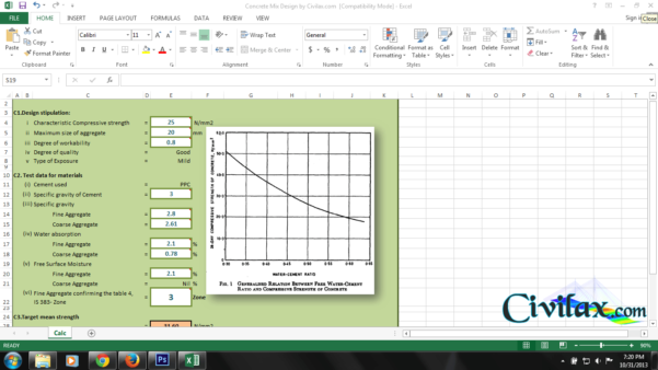 Concrete Mix Design Spreadsheet Pertaining To Concrete Mix Design Spreadsheet  Civil Engineering Community