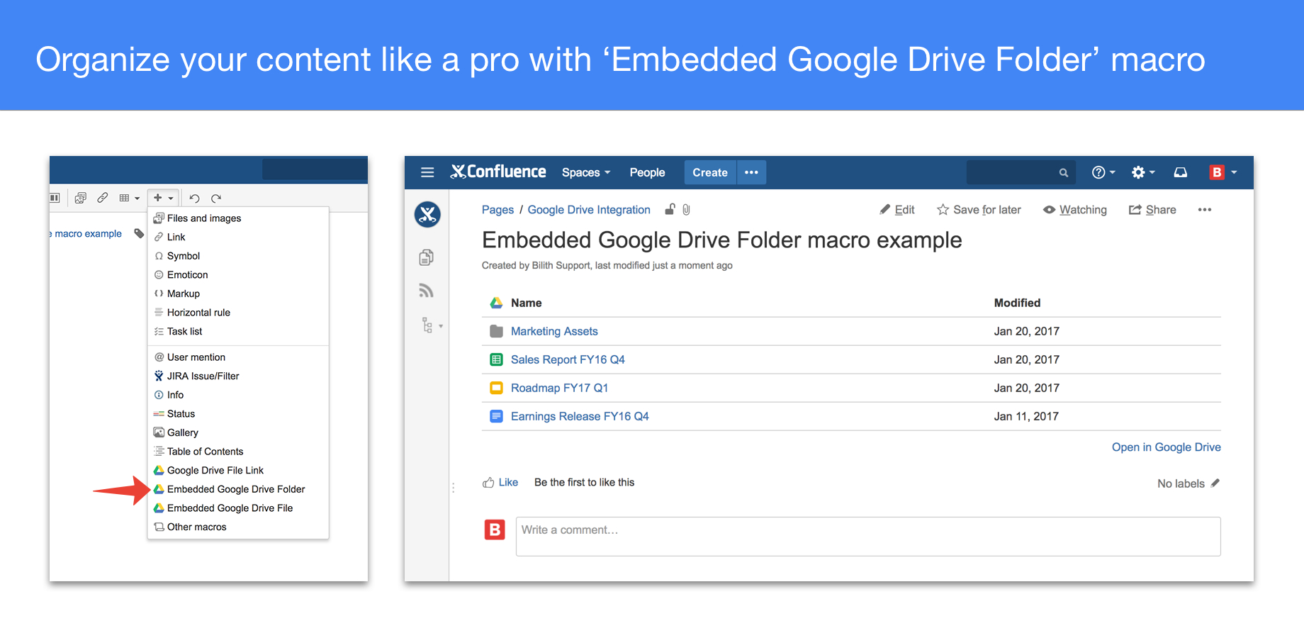 Confluence Spreadsheet Inside Google Drive  Docs For Confluence  Atlassian Marketplace