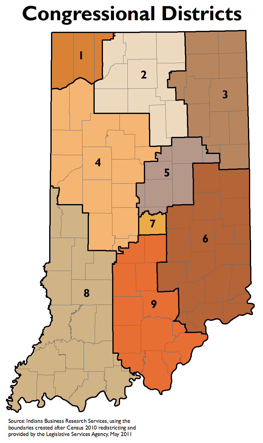Congressional Districts By Zip Code Spreadsheet For Legislative Redistricting Topic Page: Stats Indiana